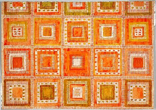 Skiss matta, Humlegården, 1969-70, Kasthall