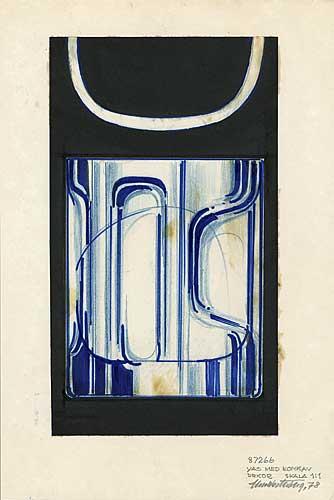 Skiss glasvas, Pukebergs Glasbruk, 1978
