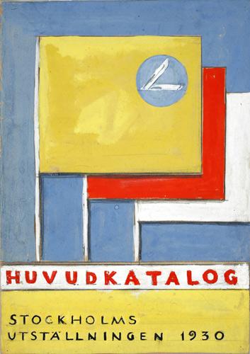 Skiss för katalog till Stockholmsutställningen 1930