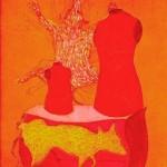 Ahmed Lea, Hyllning Till Dej, 1978, Etsning, 25x22cm