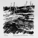 Nilsson Göran, Kalhygget, 1974, Litografi, 30x21cm