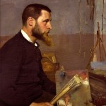 Richard Bergh, Porträtt Nils Kreuger, olja på duk, 1884, 105x74cm. Foto: Per Larsson