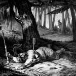 Wahlbom Carl, Nils Dackes Död, 1838, Litografi, 32x49cm