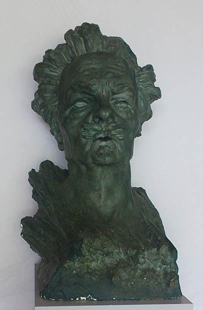 Knut Jern, August Strindberg, 1911, gipsskulptur.