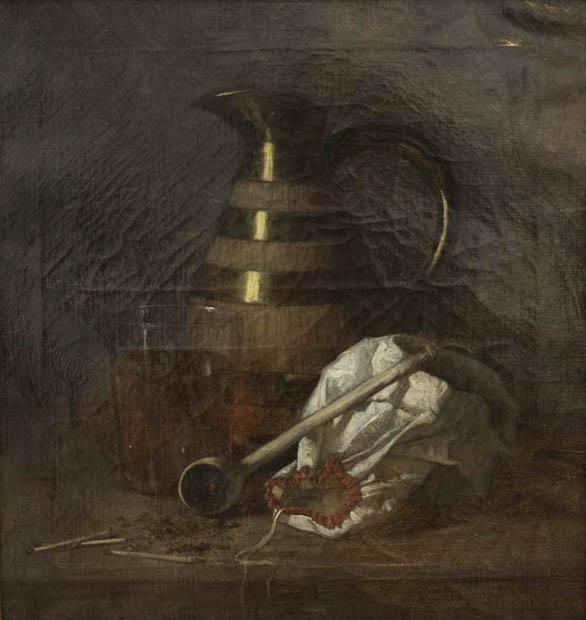 Christine Sundberg, Stilleben Paris, olja på duk,1869, 42x40 cm. Foto: Emelie Carlén