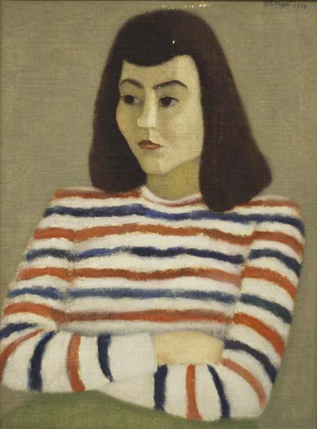 Axel Kargel, Exotisk flicka, olja på duk, 1949, 55x41 cm. Foto: Emelie Carlén