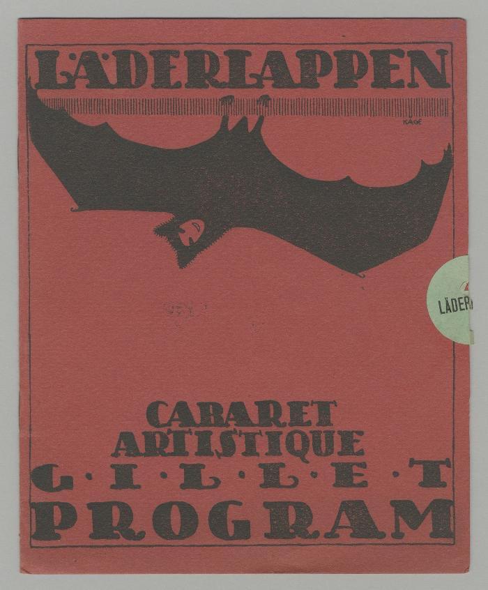 Programblad, Wilhelm Kåge