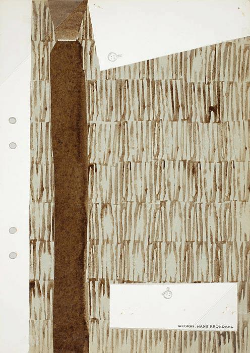 Skiss, textilmöster, 1960-tal