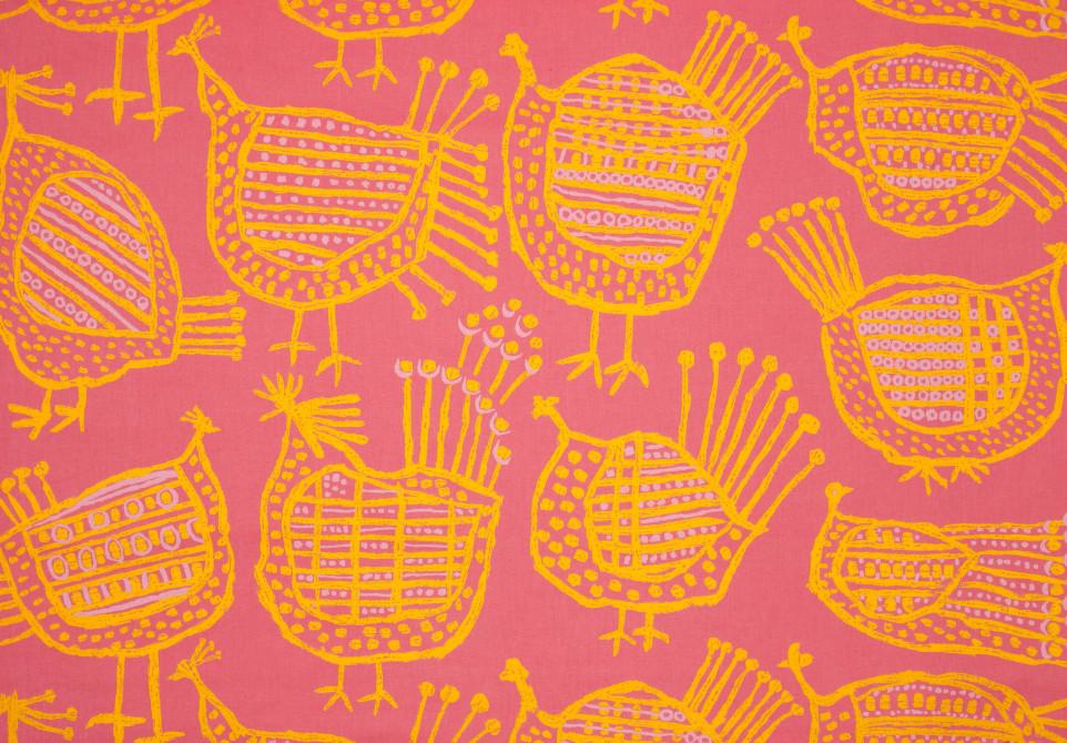 Textil, Spefåglar, 1959. Ljungbergs textiltryckeri NK Inredning