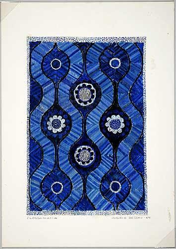 Skiss flossamatta, 1964