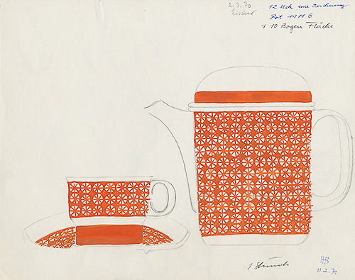 Skiss kaffeservis, Scandic, Rosenthal, 1970