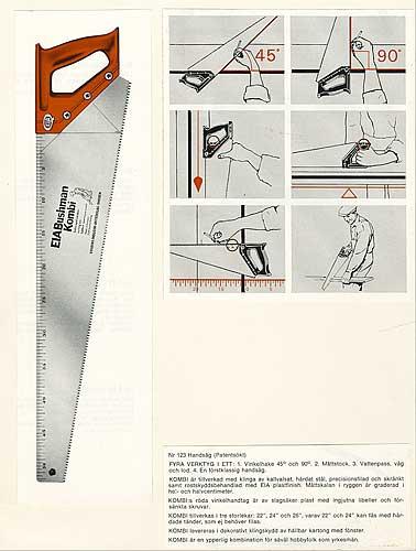 Ritning såghandtag, Edsbyns Industri AB, 1965