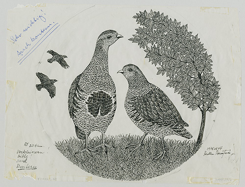Skiss dekor för tallrik, Silvana, Thomas Rosenthal, 1978