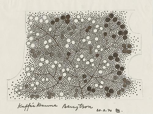 Skiss dekor kaffekanna, Rosenthal, 1970
