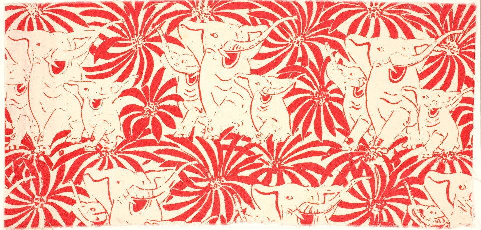 Textil Jag har sett de vita elefanterna dansa, 1945
