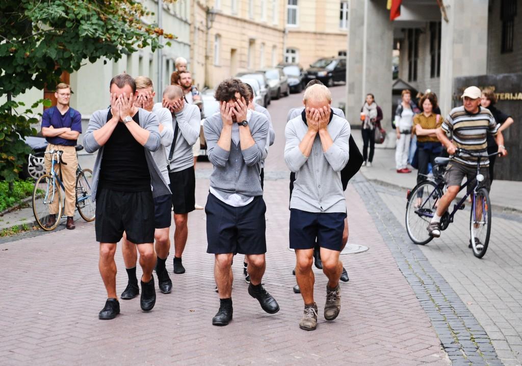 Egle Budvytyte, Choreography For the Running Male, 2012. Foto: Ieva Budzeikaite