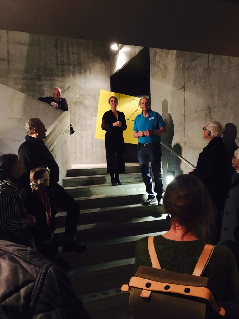 Museum Director Joanna Sandell and Jan-Erik Larsson, the Ölandshästen association