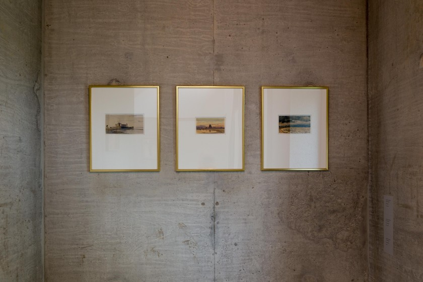 Tre akvareller av Gellerstedt
