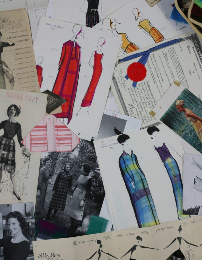 artiklar, modeteckningar, Ebba von Eckermann syns sjÑlv pÜ bild nere i vÑnstra hîrnet