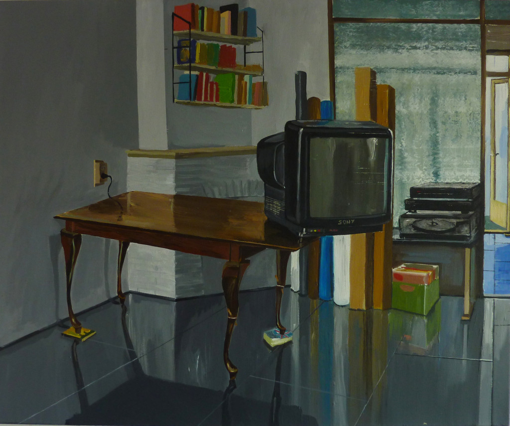 Lado Darakhvelidze: Media Dog, 2011, Acryl on Canvas, 100 cm x 120 cm, courtesy of the artist