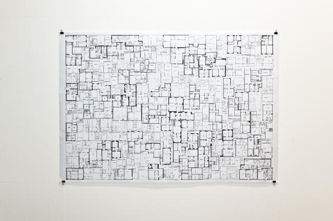 Conny Blom, Folkhemmet, digital teckning på papper, 90x130 cm