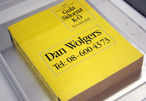 Dan Wolgers, Telefonkatalogen 1992. Foto: Per Larsson