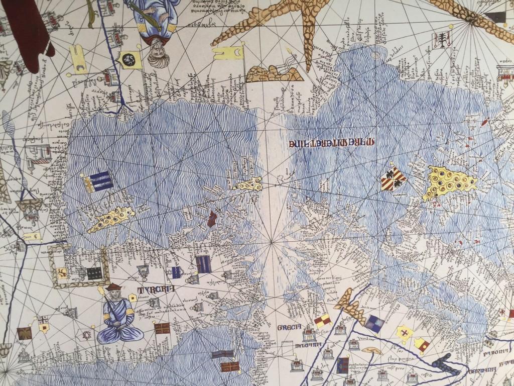 Katalansk atlas 1375 Medelhavet och Nordafrika Cresques
