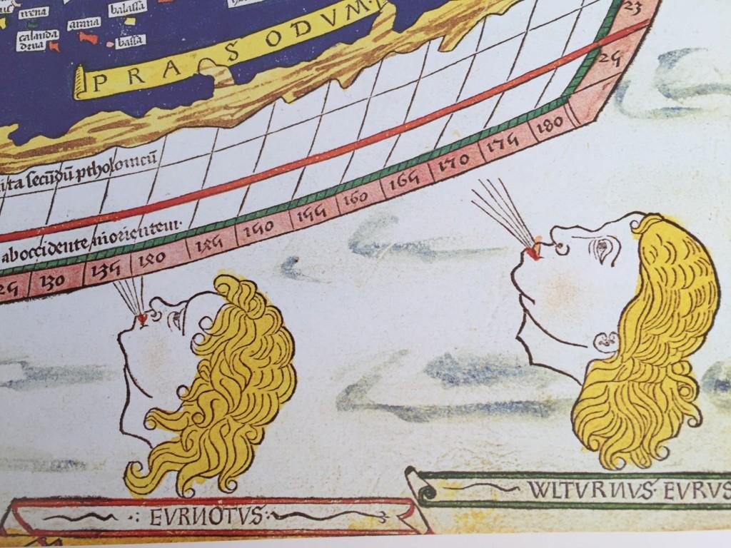 Ptolemaios Världskarta 1486, har tillhört William Morris