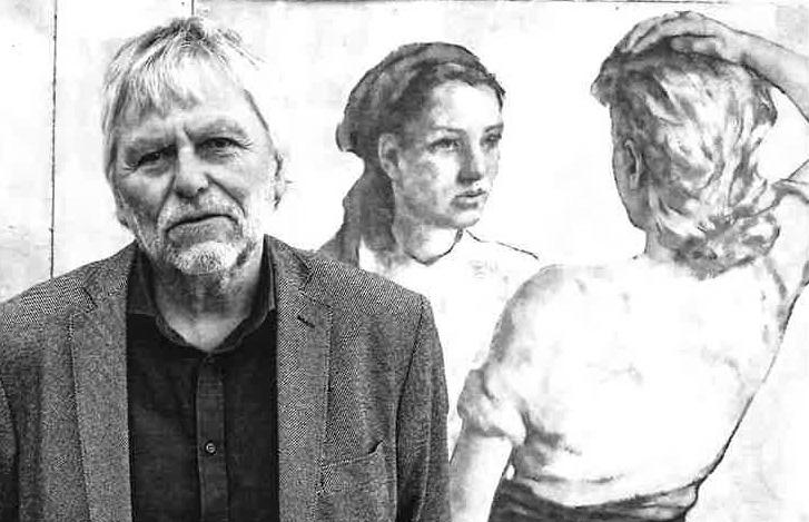 Fred Johanson, porträtt, detalj