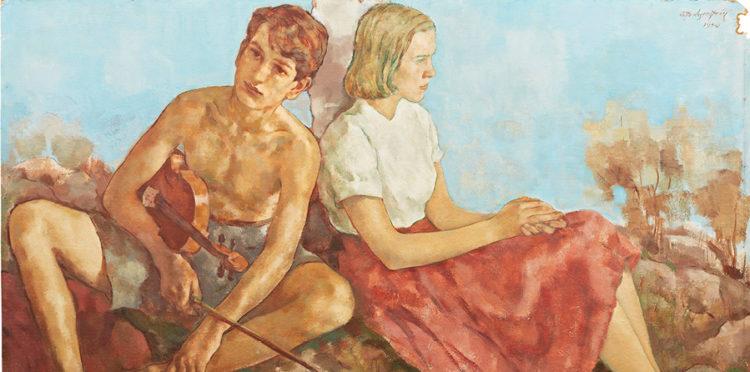 Detlaljf från Sommaridyll, Lotte Laserstein