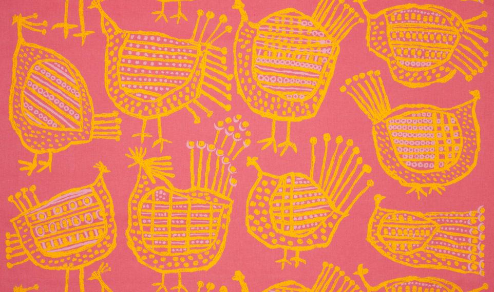 """Textil """"spefåglar"""" av Hans Krondahl, 1959"""