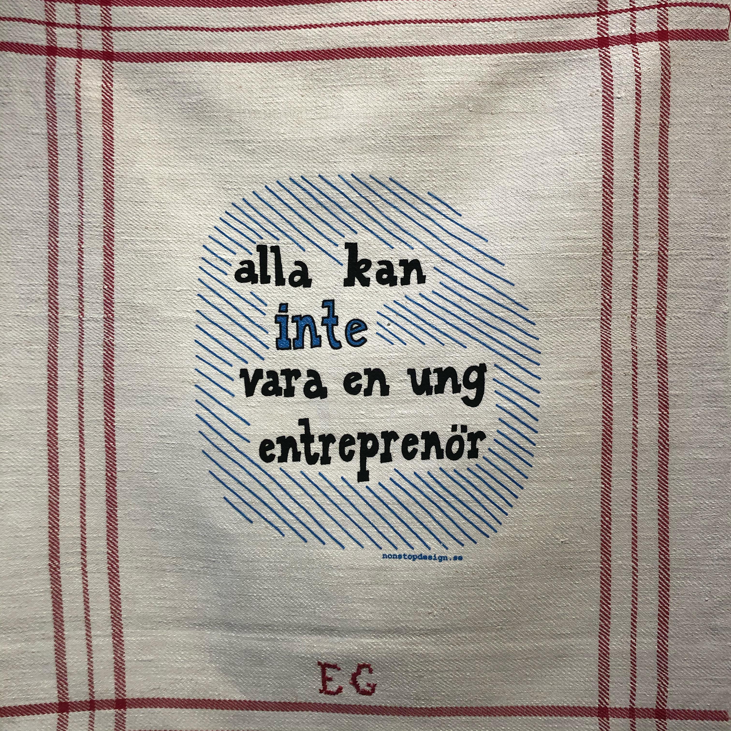 Lena Håkansons verk: Alla kan inte vara en ung entreprenör