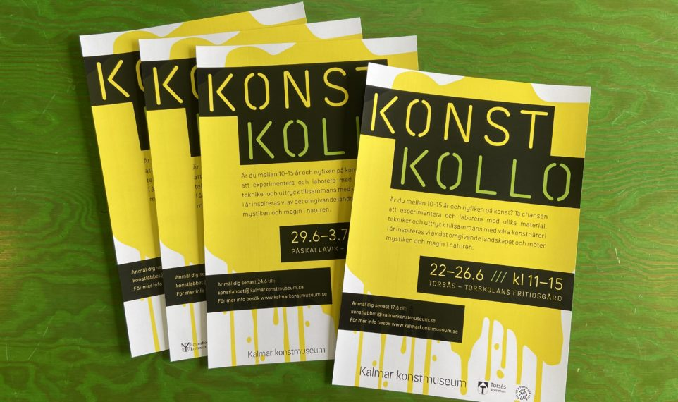 Affischer om konstkollo 2020