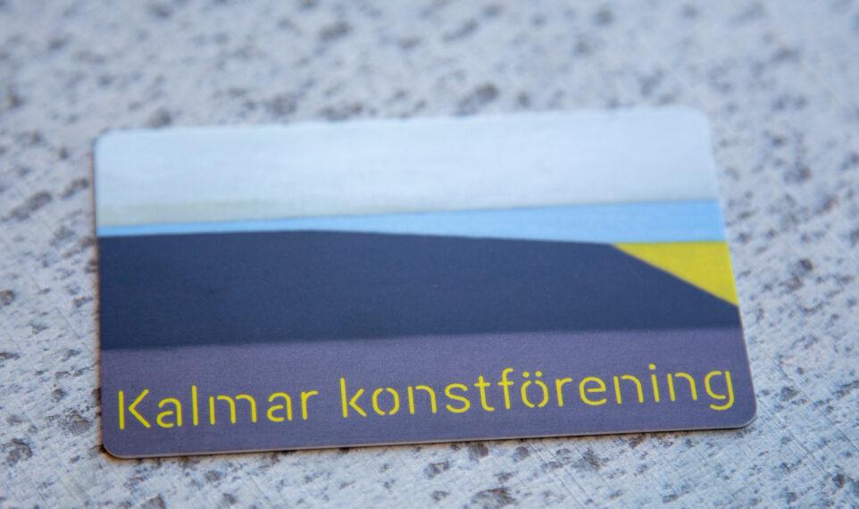 Kalmar konstförenings medlemskort